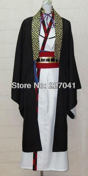 New Hakuouki Kazama Chikage Short Straight Kimono Costumes Cosplay