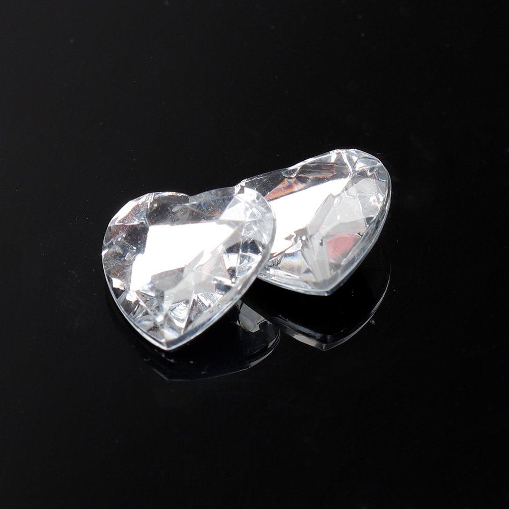 JOJO BOWS 300pcs 22g Round Transparent White Rhinestone Heart Crystal For Clothing DIY Craft Supplies Apparel Home Textile Decor in Rhinestones from Home Garden