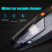 Dry and Wet Car Vacuum Cleaner Dust Catcher Illumination Convenient Auto Strong Suction