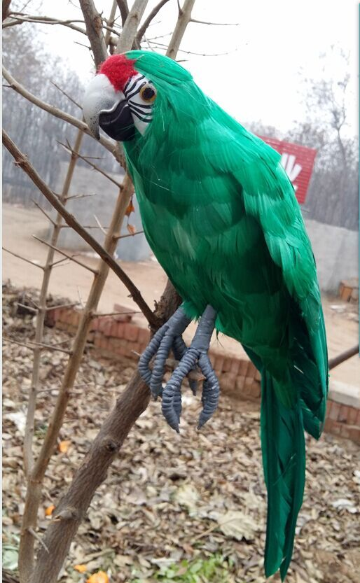 polyethylene /& furs simulation parrot toy lovely blue macaw model gift 45cm