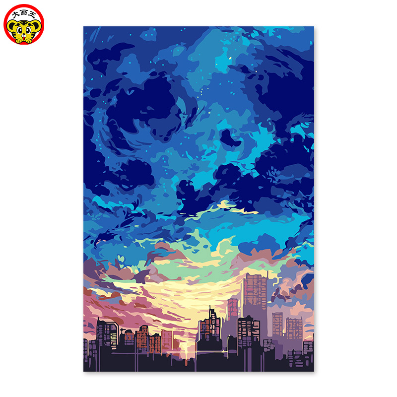 painting by numbers art paint by number Beautiful sky  not the same  Meilun US Hwan Digital painting DIY  drawing on the cloth b|painting diy|sky beautiful|painting drawing - title=