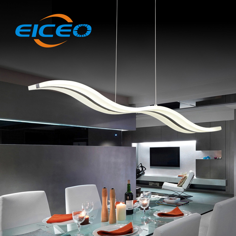 (EICEO) LED Chandelier Living Room Bedroom Lighting Atmosphere Creative Triangle Lights Pendant Lamp Light 98CM 38W Lamps цена и фото