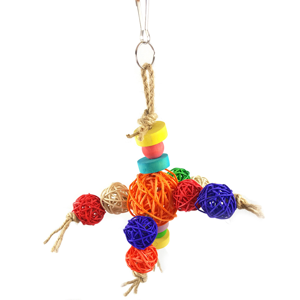Beautiful 2018 Rattan Balls Formed Robot Small And Medium Sized Chewing Toy For Parrots Bird Toys Whti Robot Shape Pet Parrots Funny Toys Pet Products