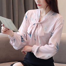 Womens Tops and Blouses Chiffon Women Blouse Shirt Long Sleeve Office Lady Ladies Blusas Plus Size