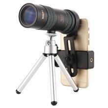 Luxun 8-24x30 zoom monocular telescope High Power FMC BAK4 Prism Zoom Lens Stretch Pocket with Tripod Hunting Optical Original 2018 new borwolf 10 30x50 binoculars bak4 prism fmc optical lens high power hunting birdwatching light night vision telescope