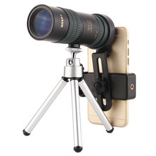 monocular 8-24x30 zoom telescopes High Power FMC BAK4 Prism Lens Stretch Pocket with Tripod Hunting Optical Original Luxun