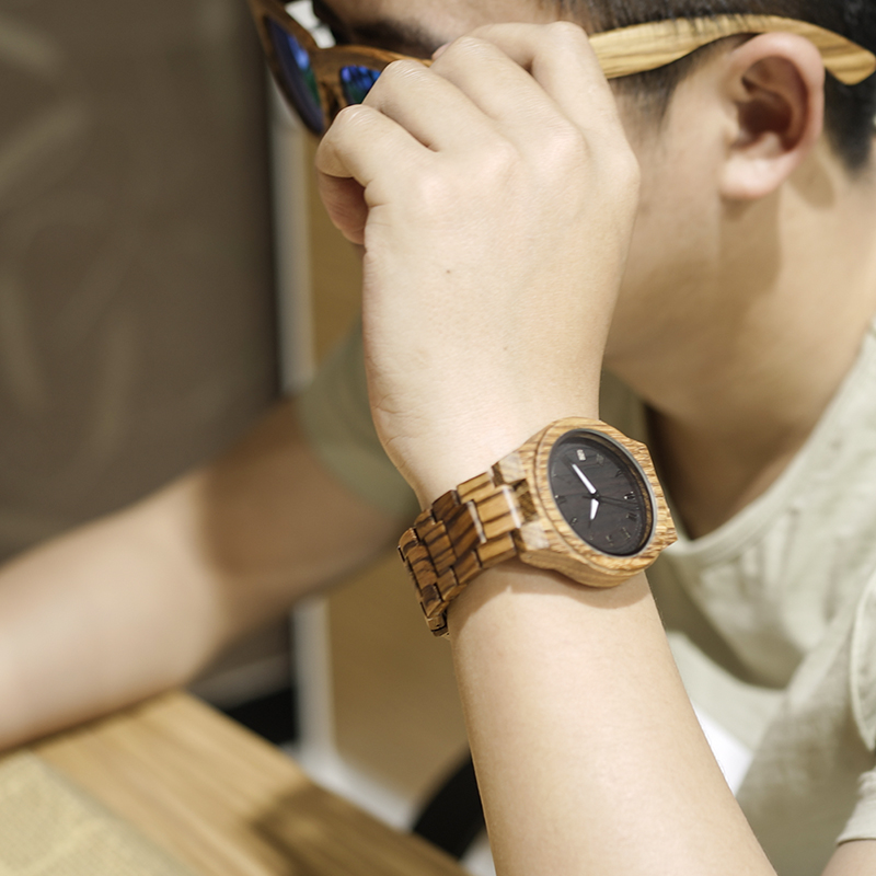 BOBO BIRD Luxury Watch Men Wooden Watches Wood Band with Wooden Box Wristwatch relogio masculino B-M30 analog watch