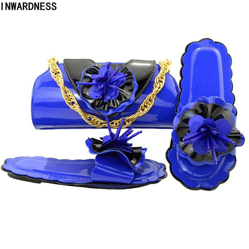 A Boda Zapatos wine fuchsia teal De Y oro 2018 Italiano púrpura Bolsos Africana Negro Establece Nuevo Color Bolsa azul Mujeres Con Púrpura Las Real Conjuntos Juego tYWFxB