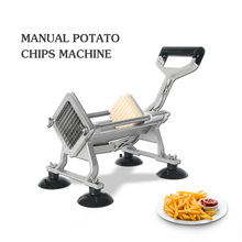 French Fries Cutter Manual Vegetable Potato Chip Slicer Cut Into Strips Kitchen Commercial Cooking Utensils