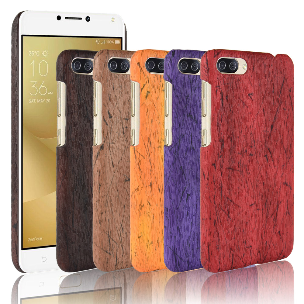 For Asus Zenfone 4 Max ZC520KL Case Luxury Wood pattern PU leather Phone Back Cover For Asus X00HD <font><b>ZC</b></font> <font><b>520</b></font> <font><b>KL</b></font> 520KL ZC520KL Case image
