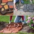 Moda jardín decorativo de plástico moldeado de pavimentación pavimento de hormigón de cemento pavimentación molde molde