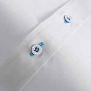 Image 5 - Camicie di cotone stampate floreali a contrasto Casual da uomo per le vacanze camicia con colletto abbottonato a maniche lunghe dal Design senza tasca