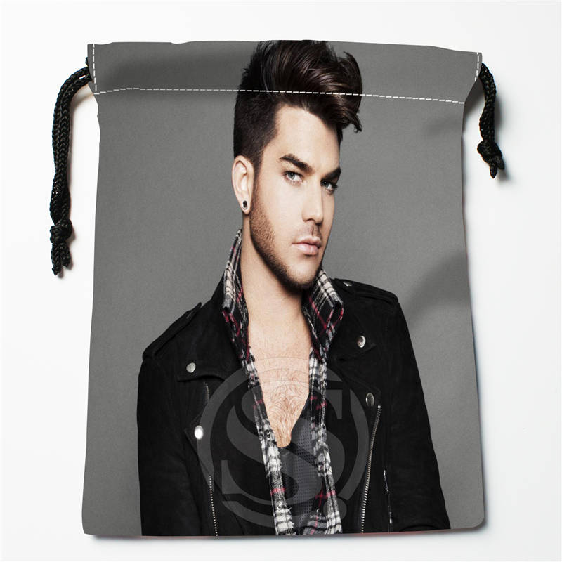 E#!c127 New Adam Lambert Custom Printed  Receive Bag Compression Type Drawstring Bags Size 18X22cm 7&12vc-qc127