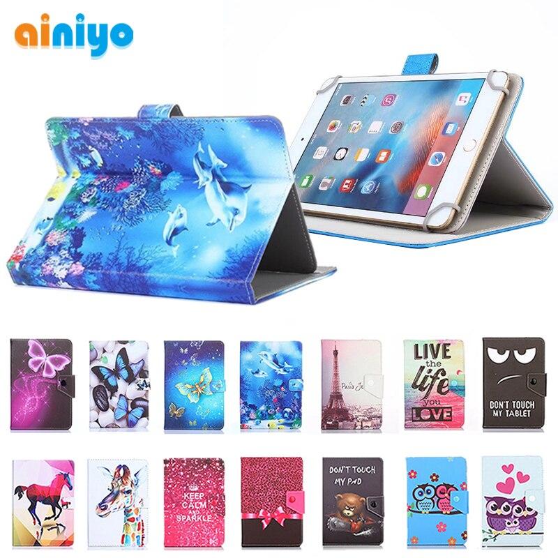 bonita y colorida ahorrar descuento de venta caliente Funda Universal para 9,7 10 10,1 pulgadas Tablet PC magnético impresión PU  Funda de cuero para ...