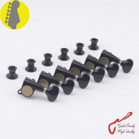 1 Set Original Genuine 6 In line GOTOH SGS510Z S5 Guitar Machine Heads Tuners ( Black ) MADE IN JAPAN