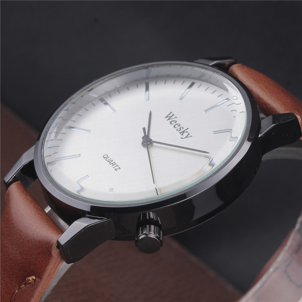 Classic 2017 New Fashion Simple Style Top Famous Luxury Brand Quartz Watch Men Casual Leather Watches Hot Clock Reloj mujeres baosaili fashion wrist watch men watches brand luxury famous male clock women unisex simple classic quartz leather watch bs996