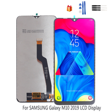 Original LCD Display For Samsung Galaxy M10 2019 Touch Screen Digitizer Assembly M10 2019 SM-105 M105F M105DS Replacement Parts 100% original for samsung galaxy s3 mini i8190 lcd display with touch screen assembly white replacement parts free tracking no