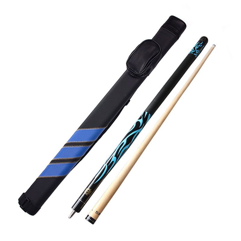 Pool Cues Stick 13 mm Tip Tip with 1 2 Pool Cues Case Set Blue Red