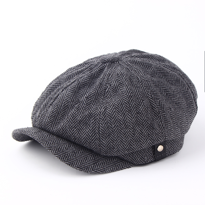 2017 new fashion Warm winter reported bonnet octagonal cap b
