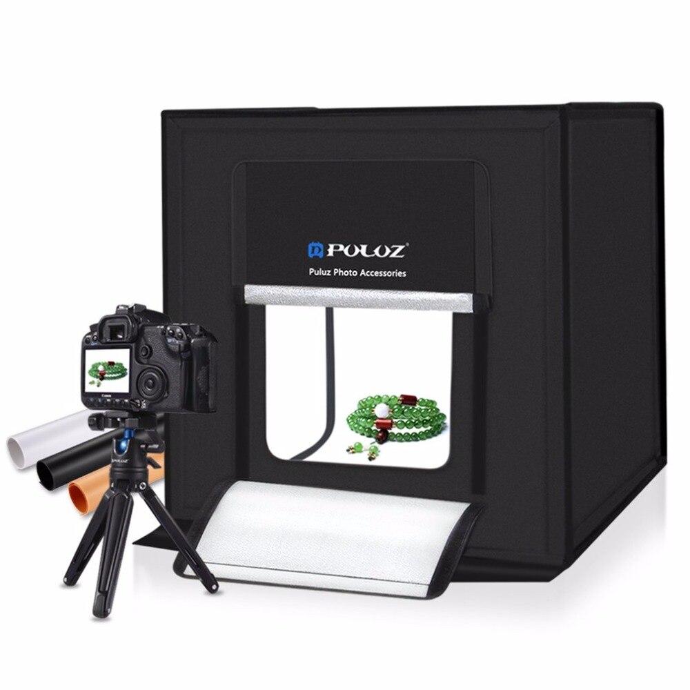 PULUZ 40*40 cm boîte à lumière Mini Photo Studio boîte de photographie pliable Softbox LED éclairage Photo Studio de tir tente boîte Kit