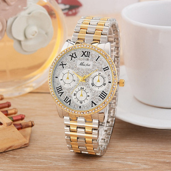 a8c71691adc9 Miss Fox MISSFOX mujer Fashion Business relojes de acero inoxidable reloj  de cuarzo estilo Casual mujeres reloj Relogios Femininos