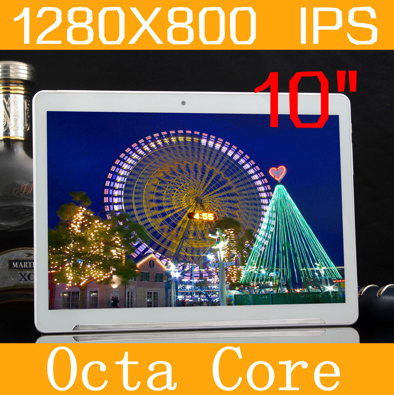 Android5.1 Tablet 10″ IPS 1280*800 4GB/128GB MT6592 Octa Core Tablette Dual SIM Phone Call GPS wifi The metal shell Tablet PC