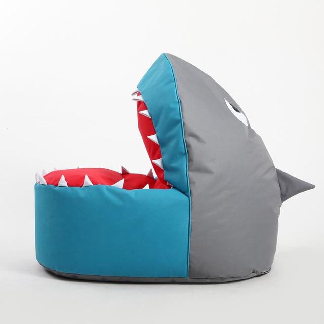 Freizeit Sitzsack Sofa Kinder Einzigen Stuhl Cartoon Kunst Shark