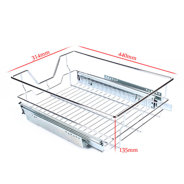 Under Shelf Storage Basket Kitchen Pantry Pull Out Sliding Metal Basket  Drawer Storage Cabinet Organiser