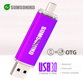 OTG phone USB Flash Drive High Speed USB 3.0 OTG Memory Stick 10 Colors Custom Gift Pen Drive 64GB 32GB 16GB 8GB
