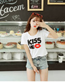 crop top summer tops 2016 white t shirt korean style vogue t shirt t-shirt tshirt tops vestiti femme