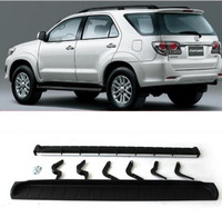 Aluminum alloy + ABS Car Running Board Side Step Nerf Bar Guard Fits For Toyota Fortuner 2012 2013 2014 2015