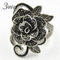 WinWinWin Marca Vento Nacional Restaurar Antigas Mulheres Jóias de Prata Antigo Criativo Vintage Black Rose Anéis Flor para As Mulheres