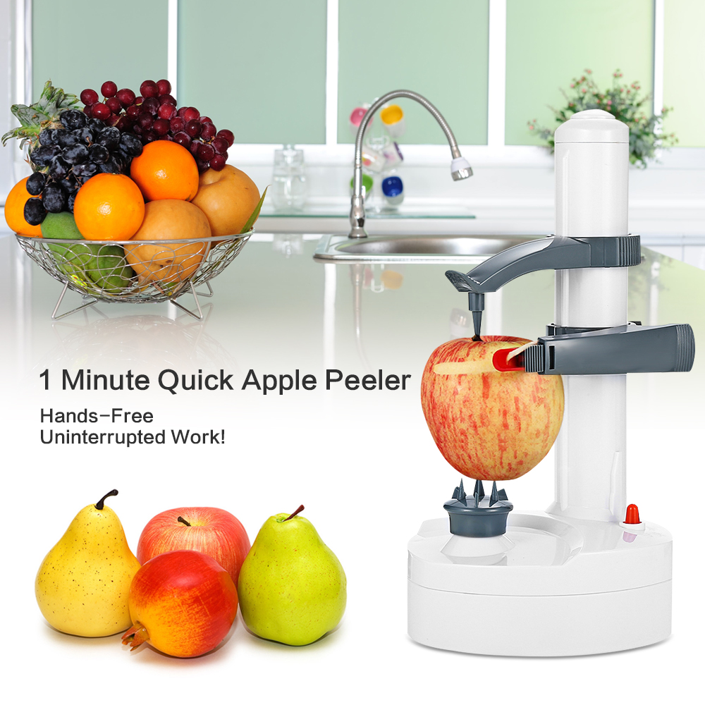 Eléctrico multifunción verduras fruta Apple Peeler de pelado automático táctil girar Peeler hojas de acero inoxidable XJ