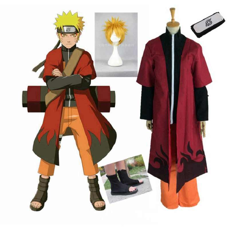 Naruto Cosplay Costume Anime Cosplay Naruto Clothes The Second Generation of Animation Cartoon Costume Cloak Jacket Pants
