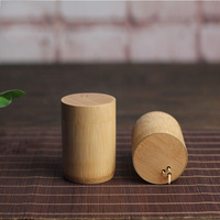 Natural Bamboo Toothpick Canister Eco-friendly Holder Caddy Snack Fruit pick Box Home Decoration Tool Accessories Wholesale