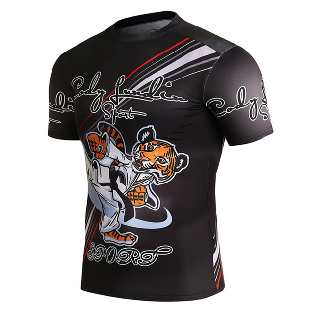 2018 Nova Impressão 3D T Camisa de Compressão De Fitness MMA UFC Homens Camiseta  Jiu- 836e4fa24c9df