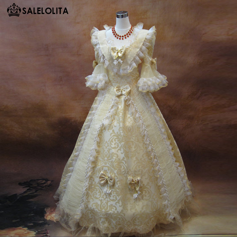 New Arrival Red Rococo Baroque Marie Antoinette Ball Gown Dress 18th ...