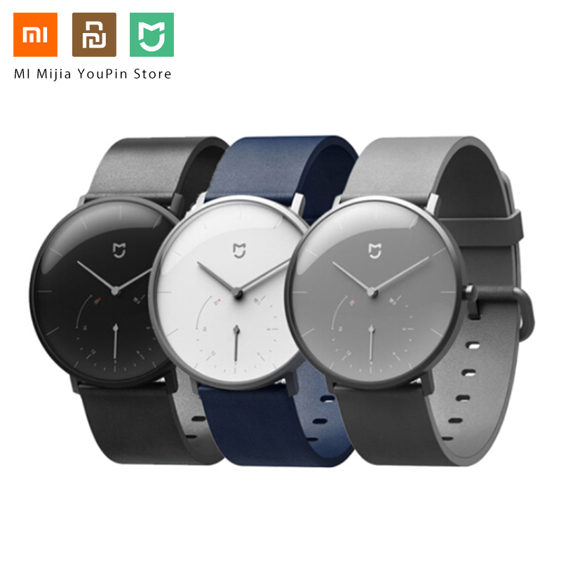 <font><b>Xiaomi</b></font> <font><b>Mijia</b></font> Quartz Smartwatch 3ATM Water Resistant Pedometer Waterproof <font><b>Watch</b></font> Gift Stainless Steel Case Intelligent Vibration image