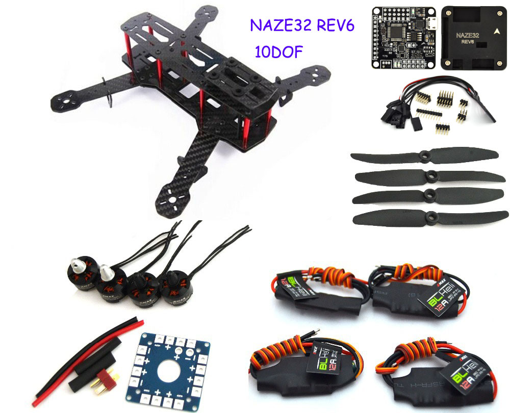 Carbon Fiber Mini Qav250 C250 Quadcopter Emax1806 Motor Bl12a Esc Flight Control Prop Drone With Fpv Camera Quadcopter carbon fiber zmr250 c250 quadcopter