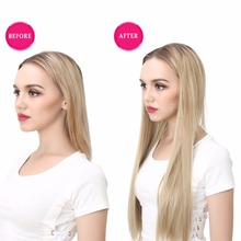 Clip in Hair Extension Straight Wavy Ombre Synthetic Hairpieces