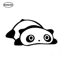 HotMeiNi 58cm x 32.63cm 2 x Cute Panda Funny Graphical (one For Each Side) Car Sticker For Truck Window Vinyl Decal Black/Sliver