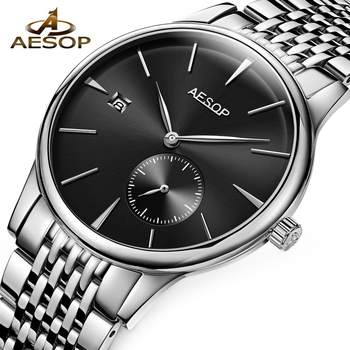 Aesop Watch Men Automatic Mechanical Watch Sapphire Thin Mens Wrist Wristwatch Male Clock Man Watch Relogio Masculino