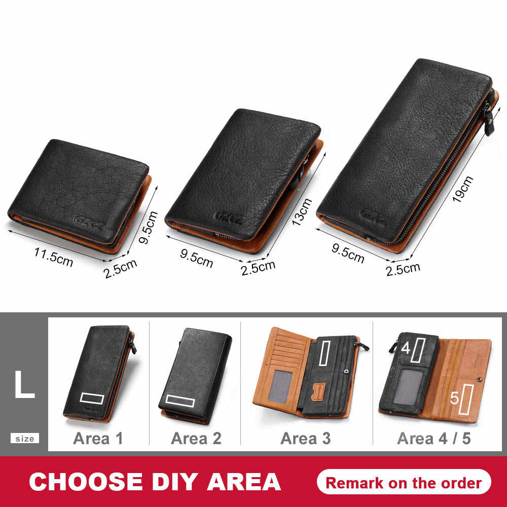 b61aa0c0403c GZCZ Men Genuine Leather Wallet Fashion Long Wallets Interior Zipper Vallet  Card Holder Coin Pocket Men'S Purse Clamp For Money
