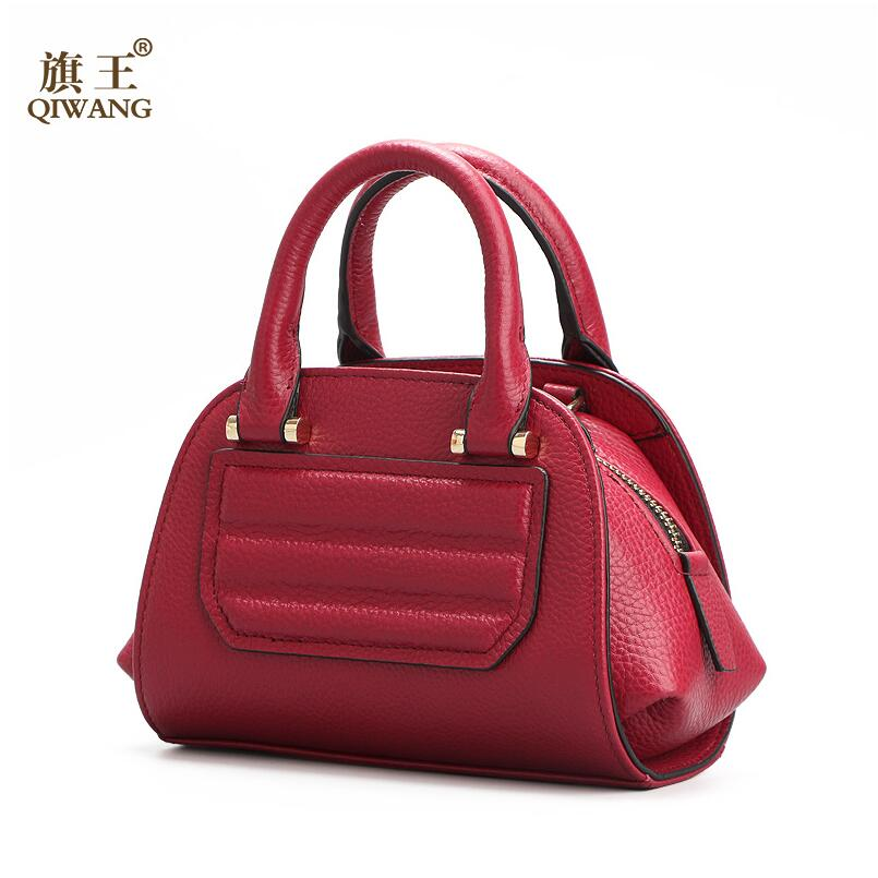 ФОТО QIWANG 2017 New Cowhide Luxury women bag famous brands fashion women bag genuine leather bag women leather handbags