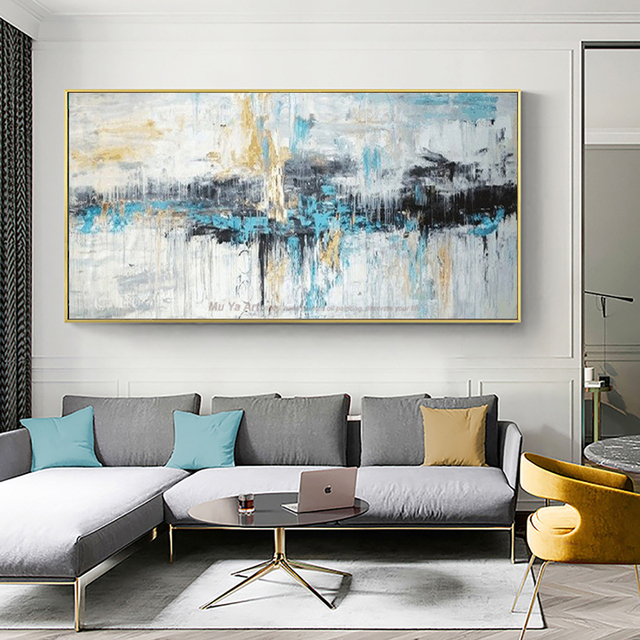Us 48 75 25 Off Abstract Art Painting Modern Wall Art Canvas Pictures Large Wall Paintings Handmade Oil Painting For Living Room Wall Decor Art In