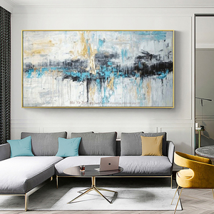 Image 1 - Abstrakte kunst malerei moderne wand kunst leinwand bilder große wand gemälde handgemachte ölgemälde für wohnzimmer wand dekor kunst