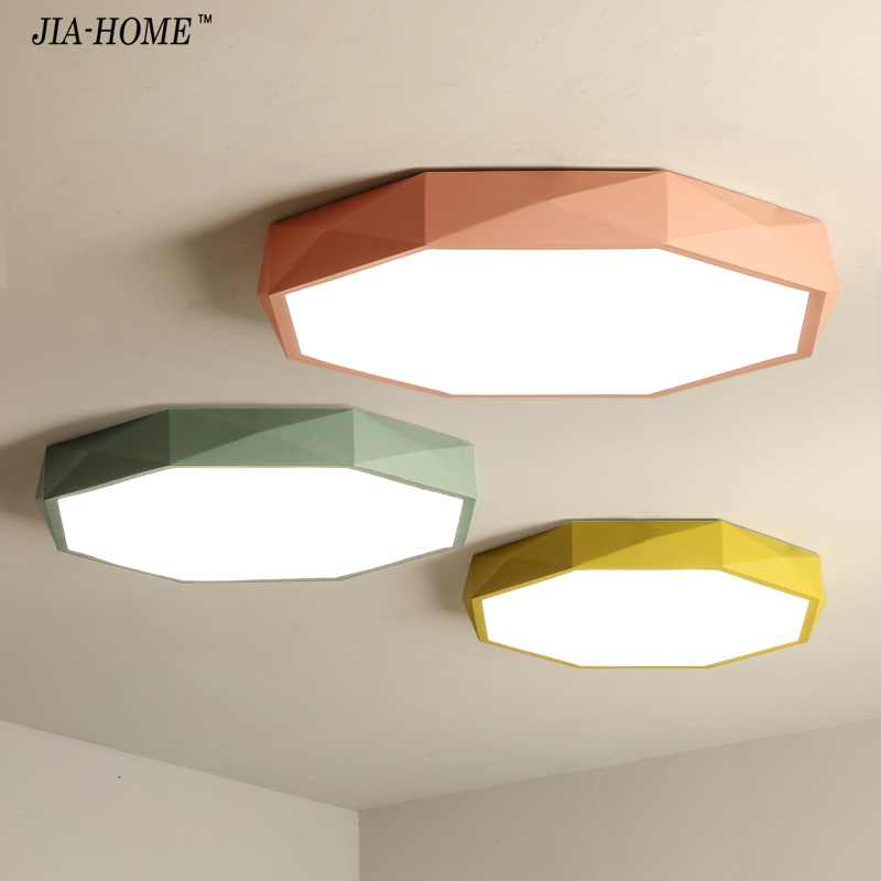 Ceiling Lights Macaron five color personality Indoor Lighting Ceiling Lamp Fixture For Living Room Bedroom round corridor lamp