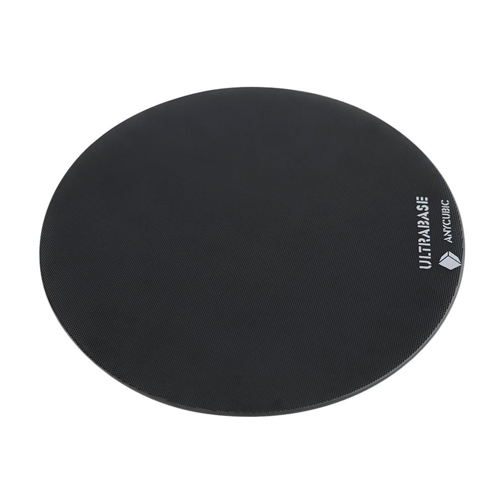 Diámetro 200mm/240mm semillero Ultrabase plataforma redonda construir superficie placa de vidrio para ANYCUBIC Kossel lineal plus polea 3D impresora