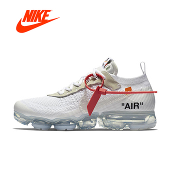 Original New Arrival Authentic Nike X OFF-WHITE OW VAPORMAX 2.0 Women's Breathable Running Shoes Outdoor Sneakers AA3831-100