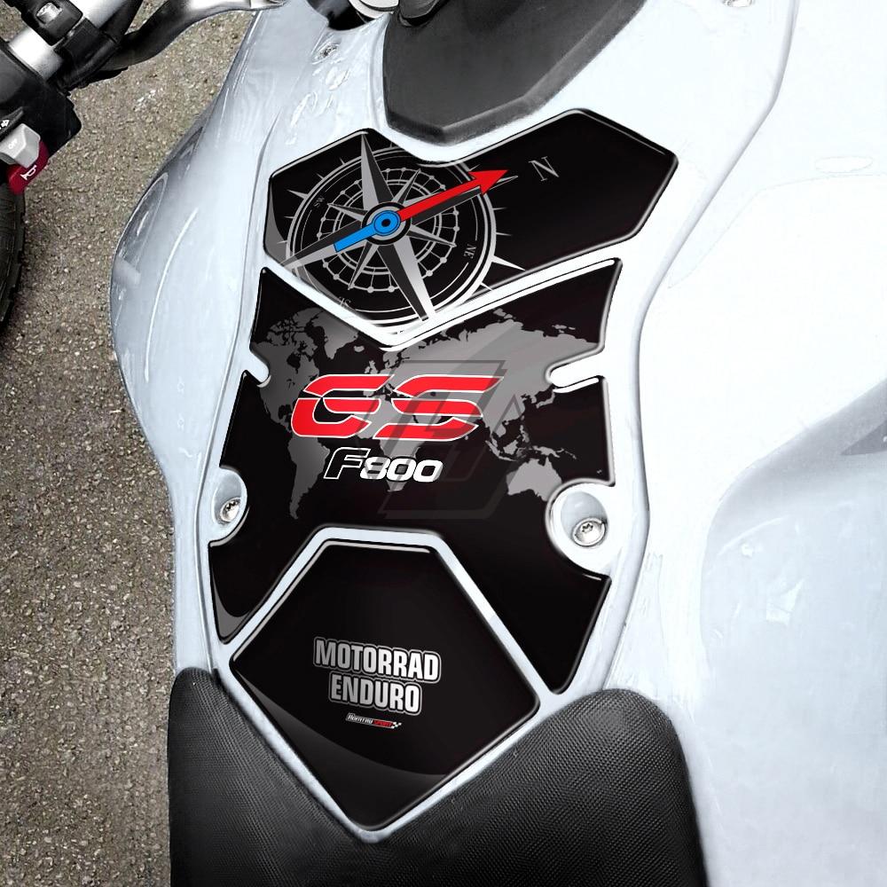 Capa protetora para tanque de combustível de moto, proteção 3d para tanque de gasolina de motocicleta para bmw f800gs f800 gs 2008-2012